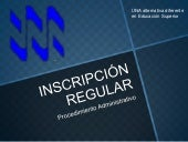 Inscripción regular