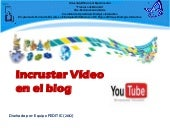 Inscrustar videos en el blog