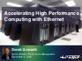 Accelerating HPC with Ethernet