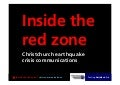 Crisis communications: inside the red zone