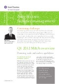 GT - Facilities Management Q1 2012 M&A overview