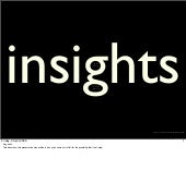 Insights Presentation
