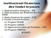 Insitucionet financiare dhe fondet ...