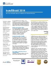 Install shield 2014  how the world builds software installations for microsoft windows
