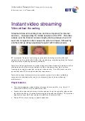 Instant video streaming