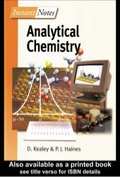 Instant notes analytical-chemistry