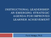 Instructional leadership 05.26.12