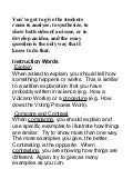 Instruction words - essay writing