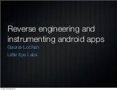 Reverse engineering and instrumentation of android apps