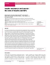 Insulin resistance and cancer the r...