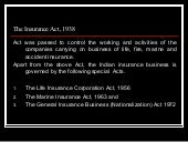 Insurance act   for class