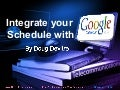 Integrate Your Schedule With Google Calendar