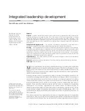 Integrated approach to leadership