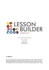 Lession Builder 2.0: In Depth Marke...