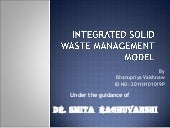 Integrated solid waste management m...