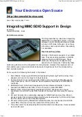 Integrating MMC/SDIO Support In Design