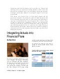 Integrating Actuals Into Financial Plans