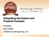 Integrating The Capture And Proposal Management Processes in Business Development