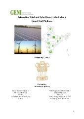Integrating wind and solar energy i...