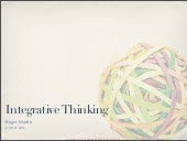 Roger Martin and Integrative Thinking