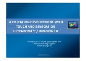 Ultrabook Development Using Touch -...