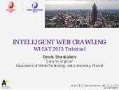 Intelligent web crawling