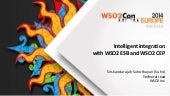 Intelligent integration with WSO2 ESB & WSO2 CEP