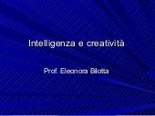 Intelligenza e creatività