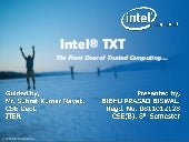 Intel Trusted eXecution Technology