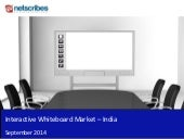 Market Research Report : Interactive whiteboard market in india 2014 - sample