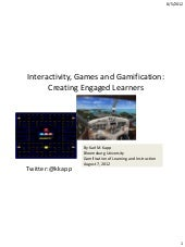 Interactivity, games and gamificati...