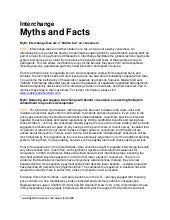 Interchange Myths and Facts