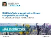 WebSphere App Server vs JBoss vs WebLogic vs Tomcat