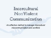 Intercultural Nonviolent Communication