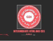 GDI Seattle - Intermediate HTML and...