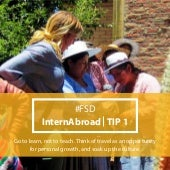 25 Tips for Interning Abroad