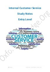 Internal Customer Service - Study N...