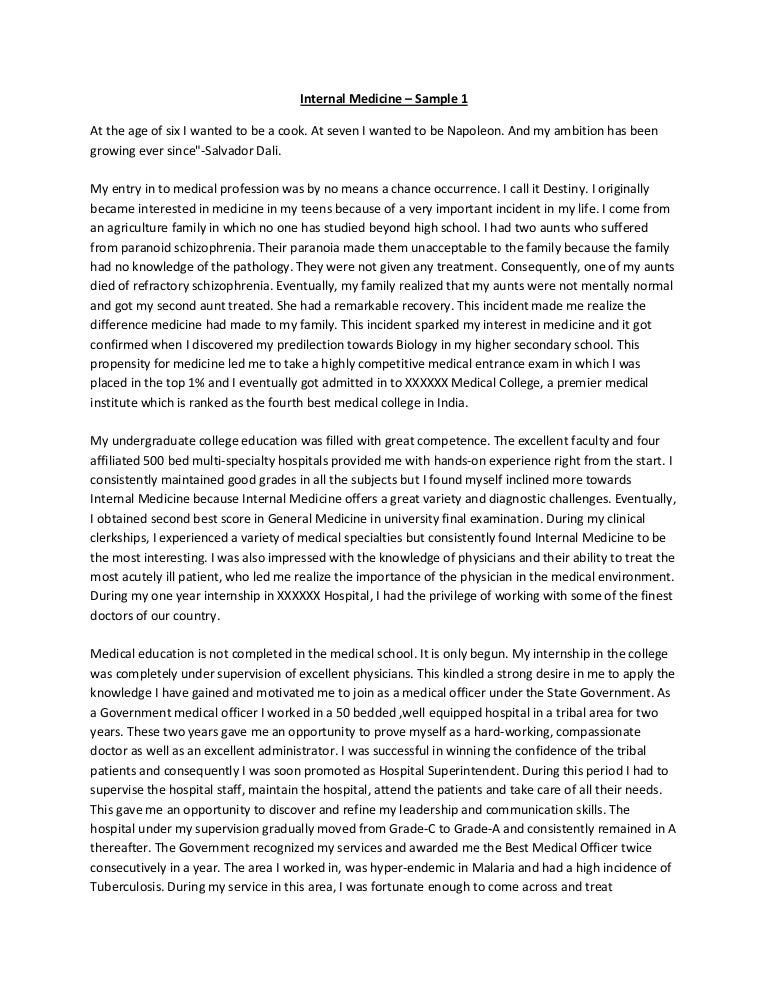 personal statement paper – Medical School Personal Statement