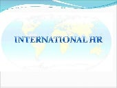 International Human Resources Manag...