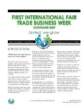 International Fair Trade Business Week
