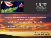 Internationalisation of higher educ...