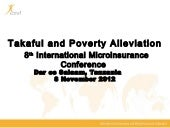 Takaful and Poverty Alleviation