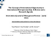 International opportunity: a review...