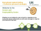 International Student Briefing - Effective Job Search Strategies