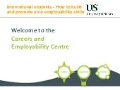 International Students - How to Build and Promote your Employability Skills