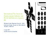 International Tax Issues In Enterta...