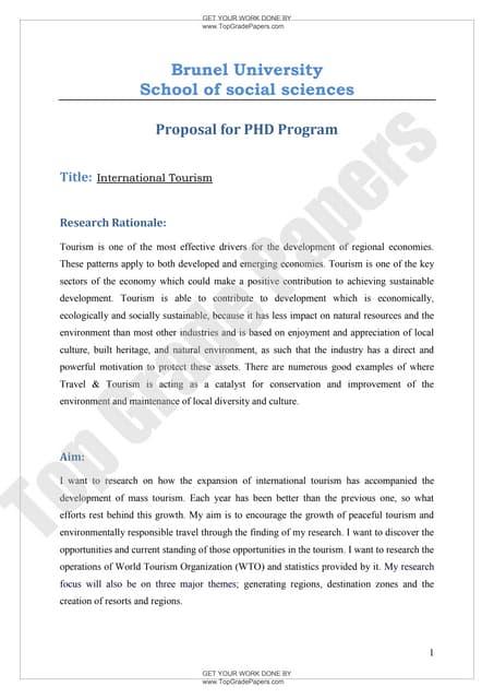 Tourism dissertation