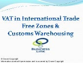International Trade and VAT Free Zones