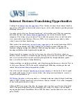 Internet Business Franchising Opportunities