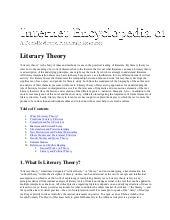 Internet encyclopedia of literary t...